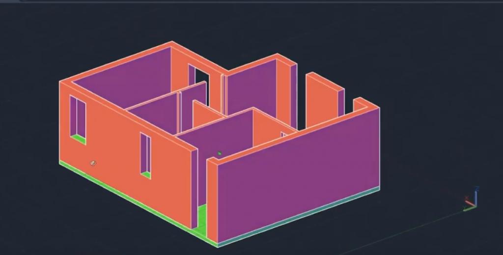 pianta di un appartamento tridimensionale