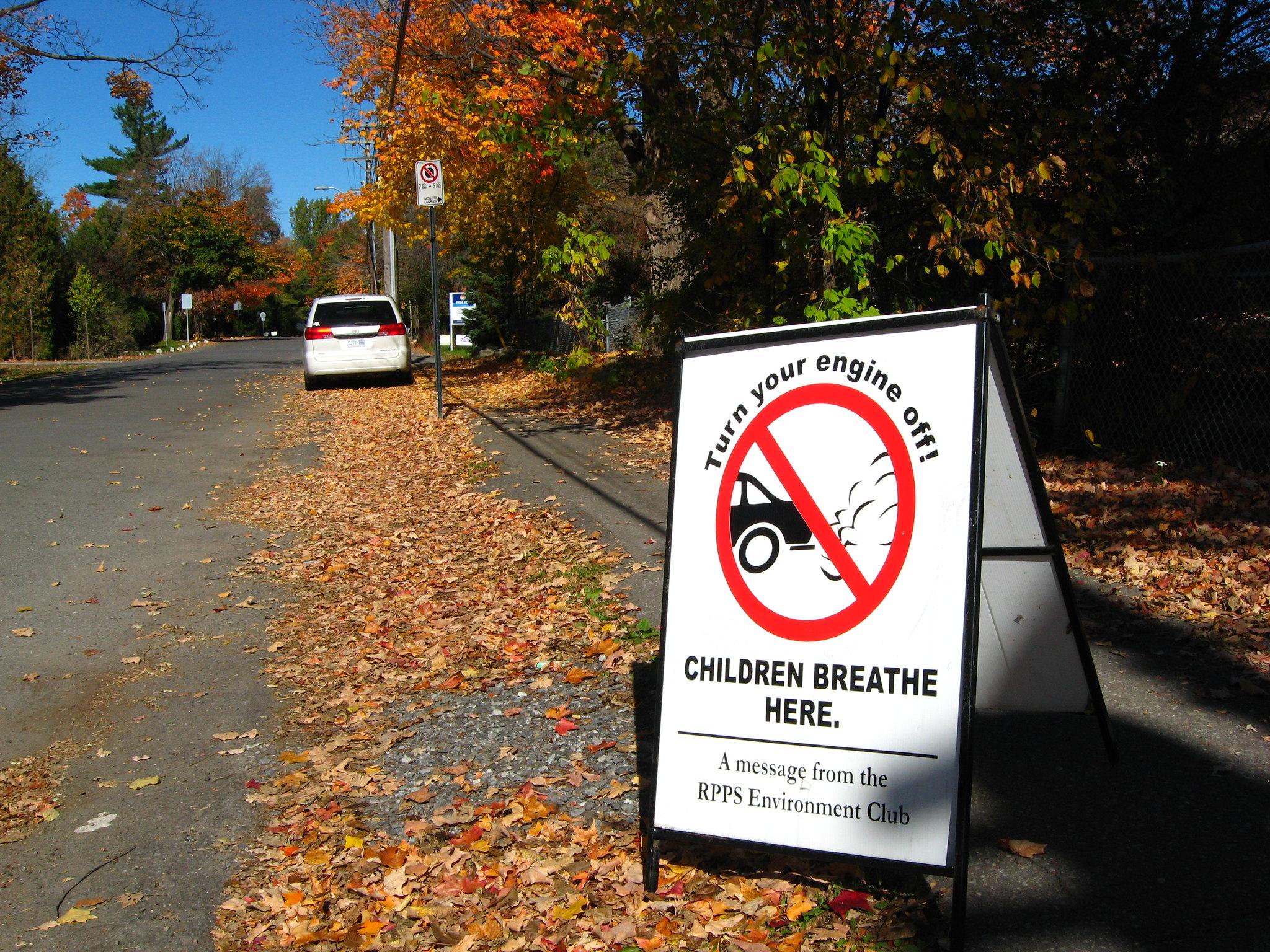 Anti-idling sign