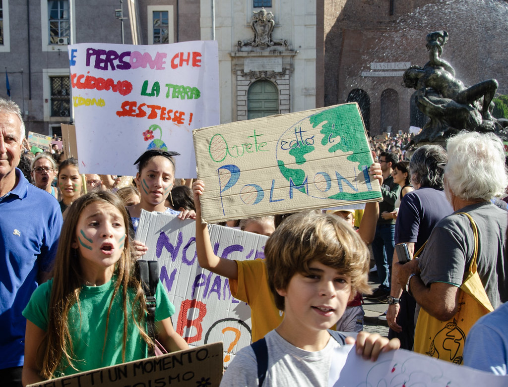 Climate protest, Sept 27 2019, Rome, Italy