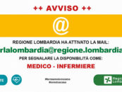 Regione Lombardia cerca medici e infermieri per l'emergenza coronavirus