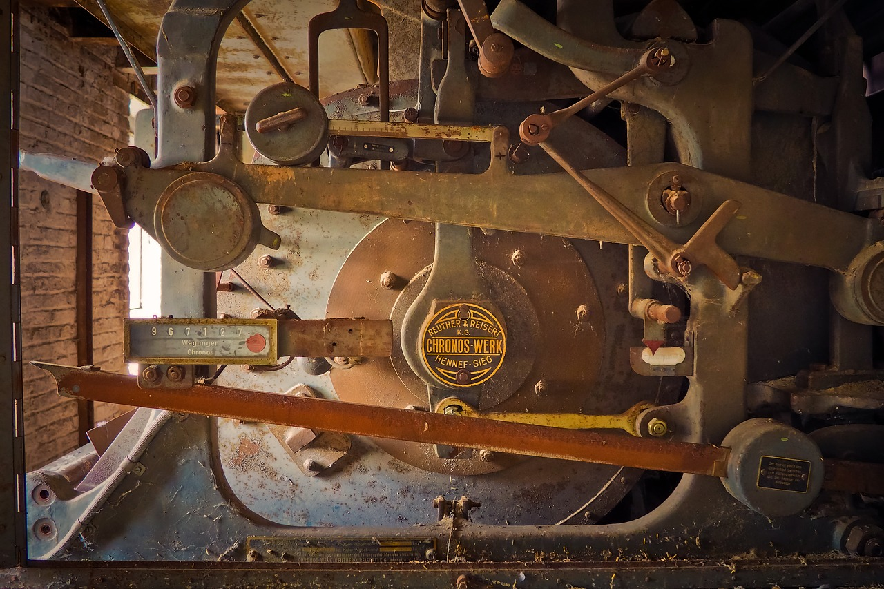 ingranaggio di antico macchinario