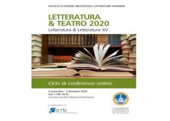 Letteratura & teatro 2020-ciclo di conferenze