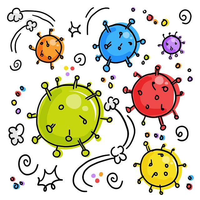disegno per bambini che rappresenta coronavirus