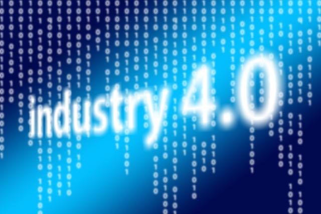 grafica con scritta industry 4.0