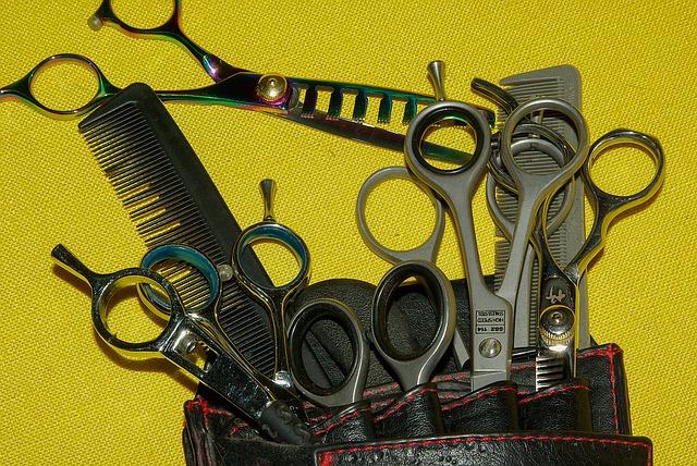 set di forbici da parrucchiere