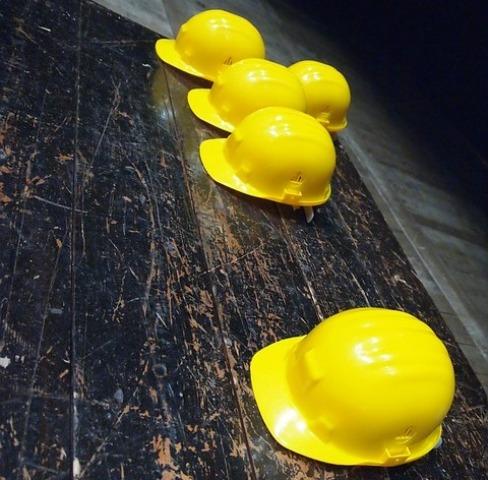 caschetto sicurezza giallo