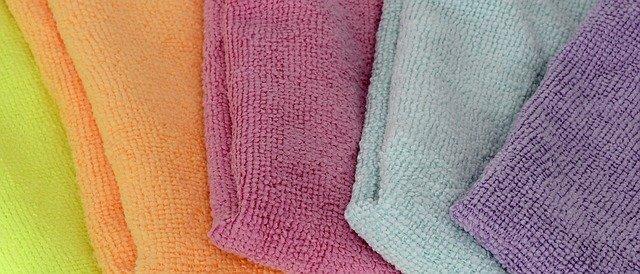 panni microfibra colorati