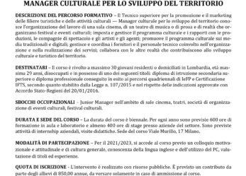 Open day online corso ITS Manager culturale per lo sviluppo del territorio