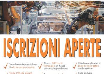 Corso ITS per Tecnico superiore per l'automazione e i sistemi meccatronici industriali-2021